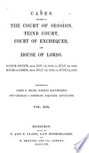 Cases decided in the Court of session (Teind court, and House of lords) from 1841 to (1862)