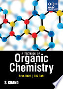 A Textbook of Organic Chemistry  22nd Edition