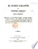 Il Cuoco Galante By V Corrado With Plates PDF