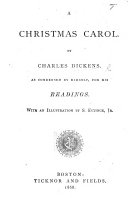 Pdf A Christmas Carol. By Charles Dickens. As Condensed by Himself, for His Readings. With an Illustration by S. Eytinge, Jr