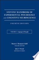 Stevens  Handbook of Experimental Psychology and Cognitive Neuroscience  Language and Thought