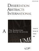 Dissertation Abstracts International Book PDF