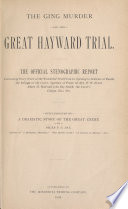 The Ging Murder and the Great Hayward Trial Book PDF