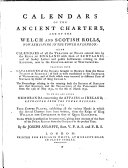 Calendars of the Ancient Charters