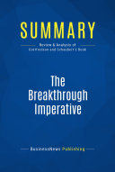 Summary: The Breakthrough Imperative