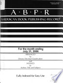 American Book Publishing Record  , Band 47,Ausgaben 7-9