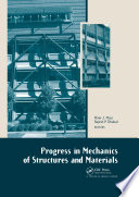 Progress in Mechanics of Structures and Materials Book