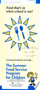 Local government can help   the summer food service program for children