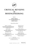 CRC Critical Reviews in Bioengineering