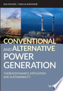 Conventional And Alternative Power Generation Book PDF