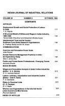 Indian Journal Of Industrial Relations