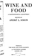Wine and Food Book