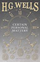 Certain Personal Matters Pdf/ePub eBook