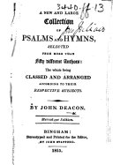 A New and Large Collection of Psalms and Hymns, etc