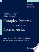 Complex Systems in Finance and Econometrics Book