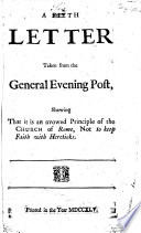 A Fifth Letter Taken From The General Evening Post Book PDF