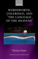 Wordsworth, Coleridge, and 'the language of the heavens'