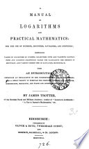 A manual of logarithms and practical mathematics