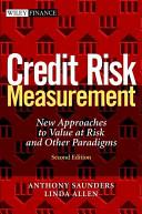 Credit Risk Measurement Book