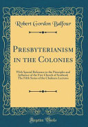 Presbyterianism in the Colonies