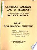 Clarence Cannon Dam And Reservoir Salt River Upper Mississippi River Basin