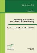 Diversity Management und Gender Mainstreaming: Praxisbeispiele IBM, Daimler AG und IG Metall
