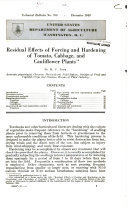 Residual effects of forcing and hardening of tomato, cabbage, and cauliflower plants