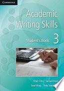 Academic Writing Skills 3 Student s Book Book