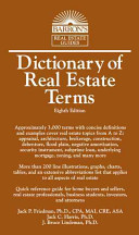 Cover of Dictionary of Real Estate Terms