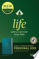 NLT Life Application Study Bible  Third Edition  Personal Size  Leatherlike  Teal Blue  Indexed