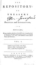 The Repository, Or, Treasury of Politics and Literature for ...