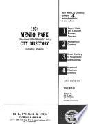 Menlo Park (San Mateo County, Ca.) City Directory