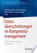 Grenzüberschreitungen im Kompetenzmanagement