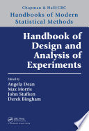 Handbook of Design and Analysis of Experiments