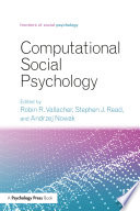 Computational Social Psychology Book PDF