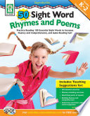 50 Sight Word Rhymes and Poems  Grades K   2 Book