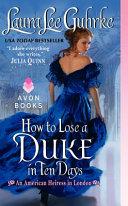 How to Lose a Duke in Ten Days Pdf/ePub eBook