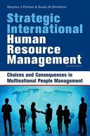 Strategic International Human Resource Management