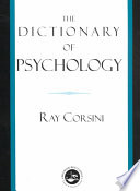 """The Dictionary of Psychology"" by Raymond J. Corsini"