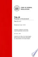 Title 40 Protection of Environment Parts 50 to 51 (Revised as of July 1, 2013)