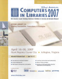 Computers in Libraries 2007 Book