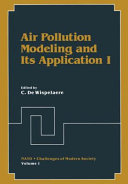 Air Pollution Modeling and Its Application I Book