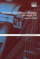 Glossari d'escriptors catalans del segle XX