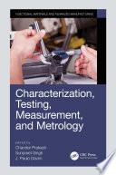 Characterization  Testing  Measurement  and Metrology Book