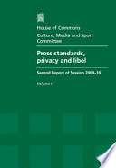 Press standards, privacy and libel