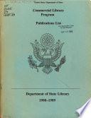 Commercial Library Program  Publications List