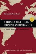 Cross-cultural Business Behavior