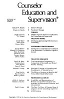 Counselor education and supervision