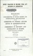 Soviet Violation of Helsinki Final Act