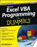 List of Dummies Excel Vba Programming E-book